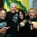 Michael Anthony, Guy fieri, Alex Gonzalez & Sammy